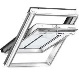 Velux Conservation Roof Window White Painted Centre Pivot