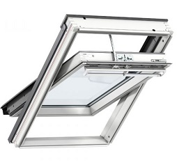 Velux Integra Electric Centre Pivot Roof Window White Painted