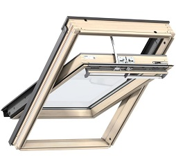 Velux Integra Electric Centre Pivot Roof Window Pine