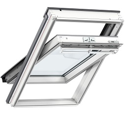 Velux Centre Pivot Roof Windows White Painted