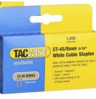 TACWISE CT-45/8mm White Cable Staples (1000)