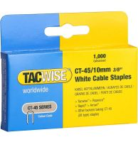 TACWISE CT-45/10mm White Cable Staples (1000)